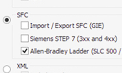 Экспорт SFC в Ladder Allen-Bradley