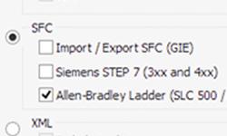 Exportação de SFC para Ladder Allen-Bradley