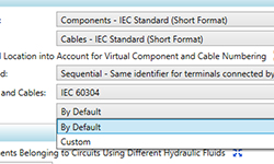 Option de visibilité des noms des ports de connexion