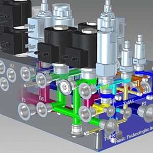 Hydraulic manifold block design, prototyping, validatoin and production