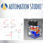 Automation Studio™ - Quickly design and simulate your 3D block manifold Logo