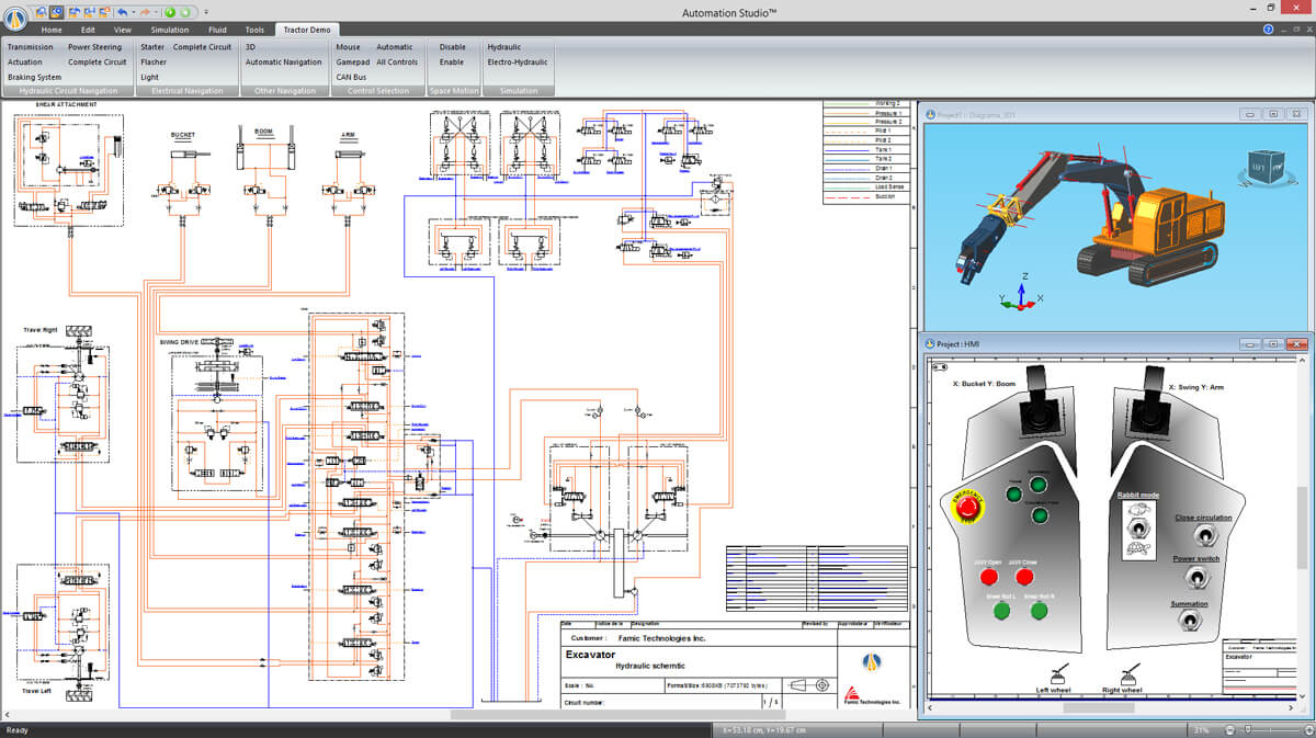 screenshot  software hydraulic schematic and simulation