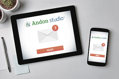alerts and notifications with Andon Studio