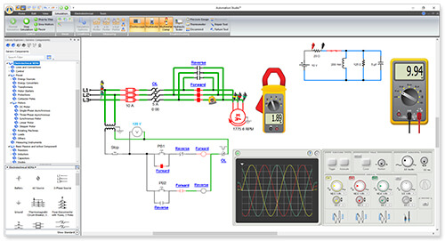 electrical simulation  automation studio™ educational edition