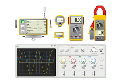 realistic measurement instruments in Automation Studio software