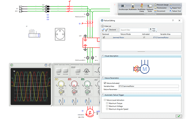 Maintenance troubleshooting and diagnostic with Automation Studio Professional Edition software