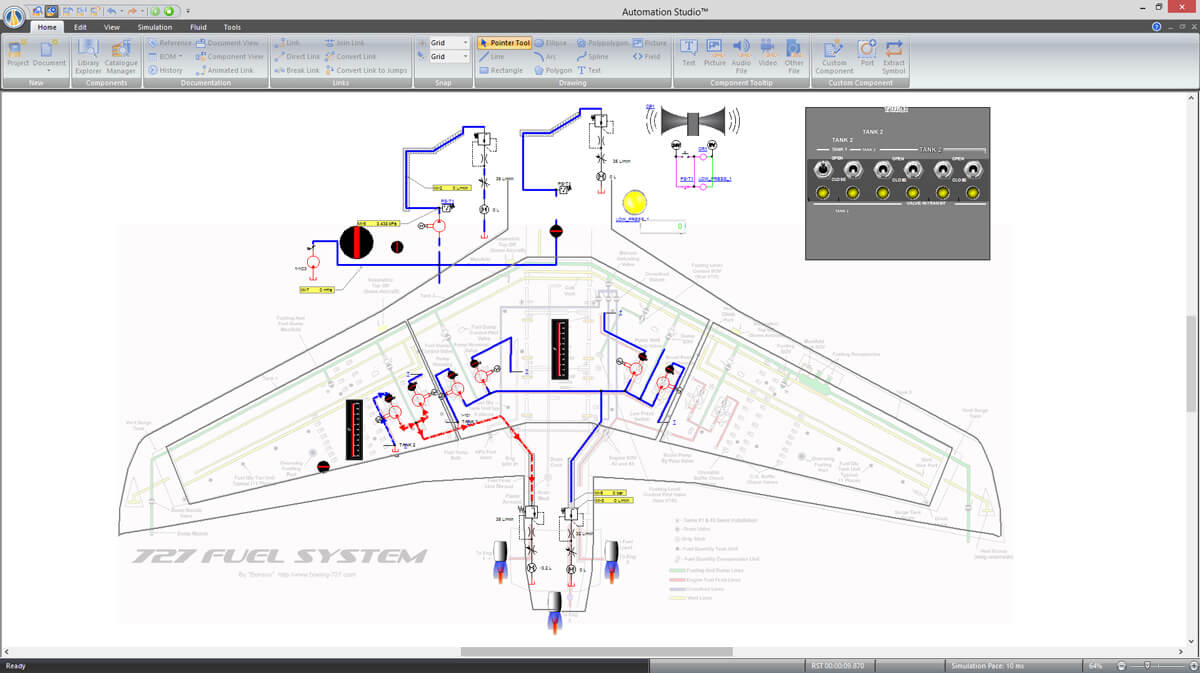 aerospace technologies simulated with Automation Studio software