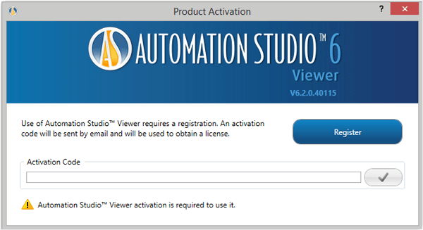 Automation Studio viewer edition activation code